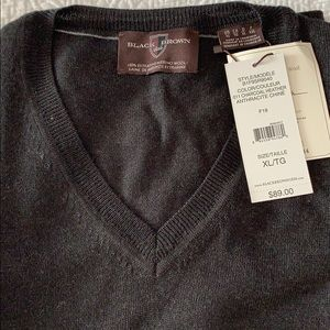 Black and Brown vneck sweater vest